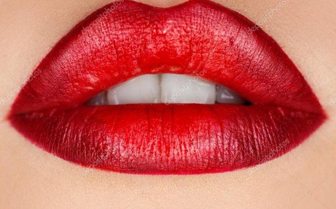 Макро фото женских губ с составляют — Стоковое фото © ponomarencko