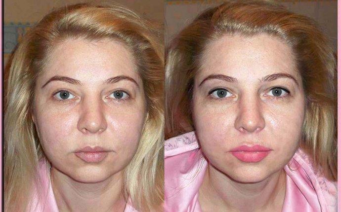 Татуаж бровей растушевка фото до и после